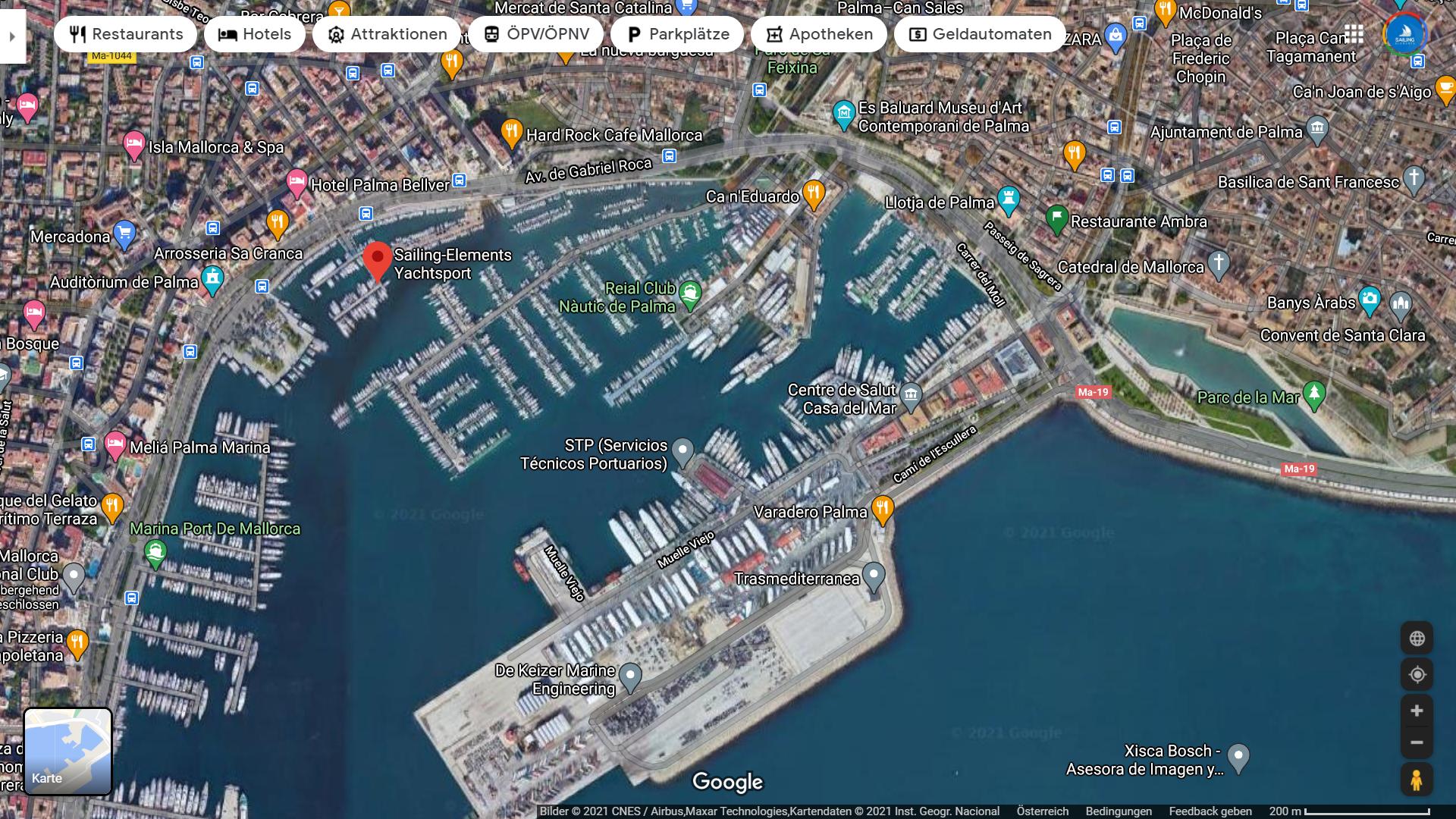 Hafen von Palma aus der Luft